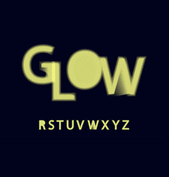Glow halftone font alphabet r s t u v w x y z vector