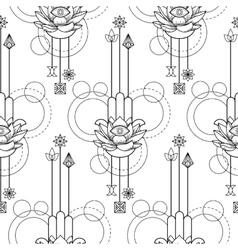 Hamsa Hand of Fatima Seamless Pattern vector image