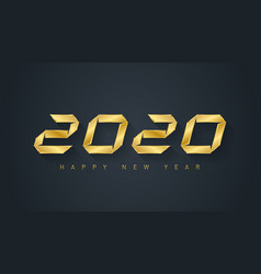 happy new year 2020 - elegant greeting card vector image