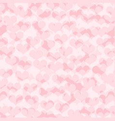 Heart pattern seamless pink love background vector