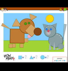 How many shapes educational game vector