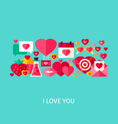 i love you greeting concept vector image