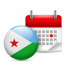 Icon of National Day in Djibouti vector