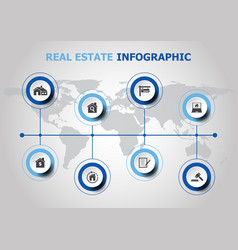 infographic design with resl estate icons vector image