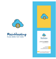 internet creative logo and business card vertical vector image
