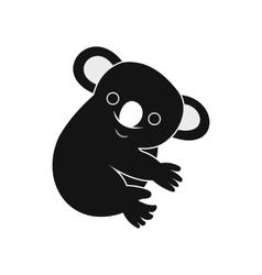 Koala icon simple style vector image