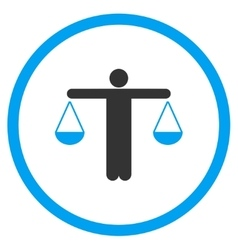 Lawyer Flat Icon vector image