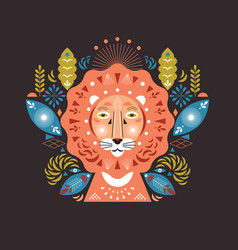 lion head stylized vector image