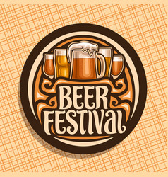logo for beer festival vector image