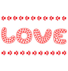 Love for animals poster banner vector