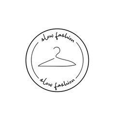 Minimalistic badge with hanger and handdrawn vector