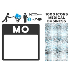 Monday Calendar Page Icon With 1000 Medical vector