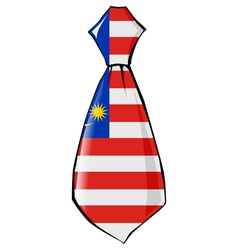 Necktie in national colours of Malaysia vector