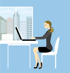 office worker or business woman vector image