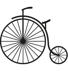 old simple bicycle vector image