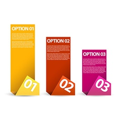 One two three - paper options vector image