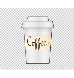 paper coffee cup on transparent background vector image