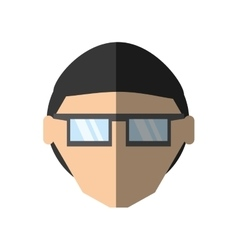 People face man nerd icon image vector