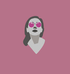 portrait of beautiful young woman in pink vector image