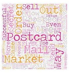 Postcards Versus Catalogues text background vector