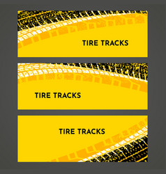 Rally race grunge tire dirt car background banner vector