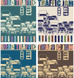 Road traffic old poster vector