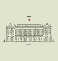 Royal villa milan italy vector