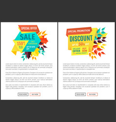 Sale offer special discount vector