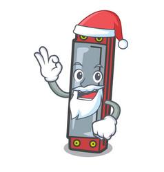 Santa harmonica mascot cartoon style vector