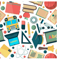 school seamless background education learning vector image