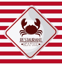 Sea food design crab concept vector