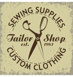 Sewing emlem vector