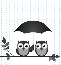 Sheltering from the rain vector image