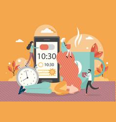 sleep cycle alarm clock app flat vector image