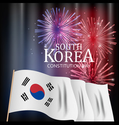 South korea constitution day background vector