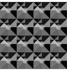 Square black geometrical abstract pattern vector