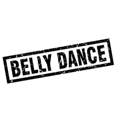 Square grunge black belly dance stamp vector