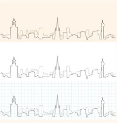 Stockholm hand drawn skyline vector
