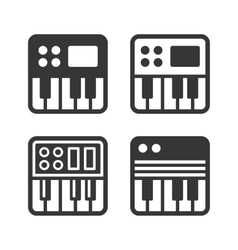 Synthesize Icon Set vector image