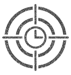 Time Target Grainy Texture Icon vector