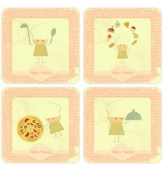 vintage set menu card designs vector image