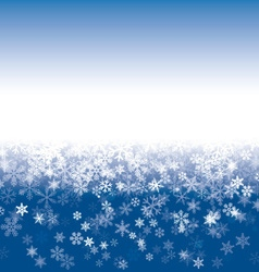 White Snowflakes and blue Sky vector image