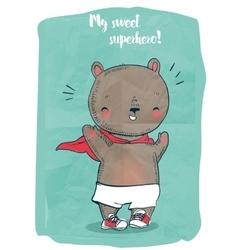 cute doodle bear vector image