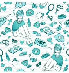 girlish pattern vector image