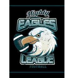 Mighty Eagles League football team on black vector image