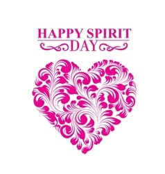 Spirit day heart vector image