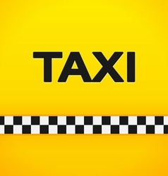 Taxi Word on Yellow Background vector image vector image