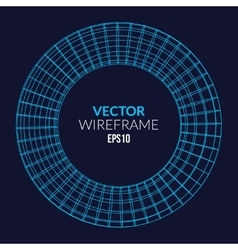 Abstract wireframe sphere glowing on dark vector image vector image