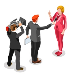 Election News Infographic Interview News Isometric vector image vector image