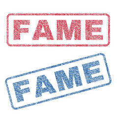 fame textile stamps vector image